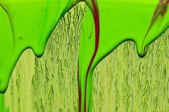 Абстрактная предпосылка зеленых цветов краски Стоковая Фотография RF