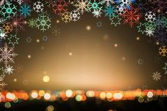 Абстрактная предпосылка зимы с светами bokeh defocused стоковые фотографии rf