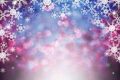 Абстрактная предпосылка зимы с светами bokeh defocused стоковое изображение rf
