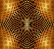 Абстрактная предпосылка золота круга Бесплатная Иллюстрация