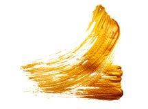 Абстрактная предпосылка золота с акриловой кистью Стоковое Изображение
