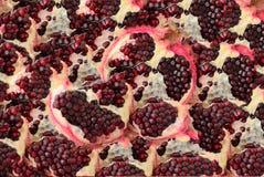 Абстрактная предпосылка зрелых семян гранатового дерева Стоковая Фотография