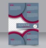 Абстрактная предпосылка дизайна рогульки шаблон брошюры Стоковые Изображения RF