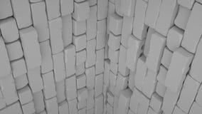 Абстрактная предпосылка кирпича, 3 d представляет Стоковая Фотография