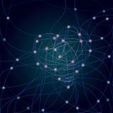 Абстрактная предпосылка концепции связи Стоковое Изображение