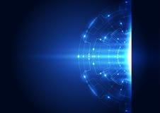 Абстрактная предпосылка концепции технологии цепи также вектор иллюстрации притяжки corel Стоковая Фотография RF