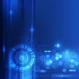 Абстрактная предпосылка концепции цифровой технологии, иллюстрация вектора Стоковое Изображение