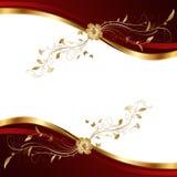 Абстрактная предпосылка красного цвета и золота. Стоковое Изображение