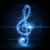 Абстрактная предпосылка ключа музыки также вектор иллюстрации притяжки corel Стоковое Изображение RF