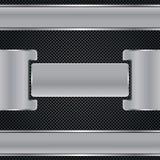 Абстрактная предпосылка, металлическая брошюра Стоковое Изображение