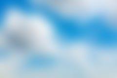 Абстрактная предпосылка нерезкости голубого неба Стоковые Изображения