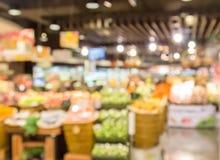 Абстрактная предпосылка нерезкости супермаркета в торговом центре Стоковые Фото