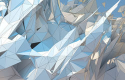Абстрактная предпосылка, низкая поли фракталь Стоковое Изображение RF