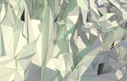 Абстрактная предпосылка, низкая поли фракталь Стоковое Изображение