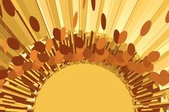 Абстрактная предпосылка лотереи круга с монетками иллюстрация вектора