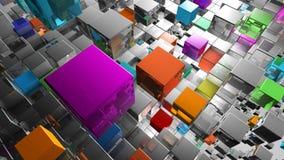 Абстрактная предпосылка от металлических кубов Стоковые Фотографии RF