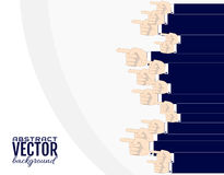 Абстрактная предпосылка от мужских рук бизнесмена с forefinger Элемент для дизайна, рекламы, продаж вектор Стоковое Изображение RF