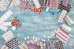 Абстрактная предпосылка пилюлек медицины Стоковое Изображение