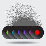 Абстрактная предпосылка показателя винила музыки Стоковая Фотография RF