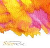 абстрактная предпосылка покрасила акварель Стоковые Фото