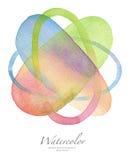 абстрактная предпосылка покрасила акварель Стоковые Фотографии RF