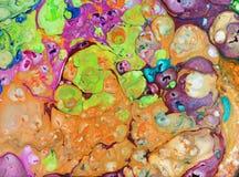 абстрактная предпосылка по мере того как предпосылка может мраморизовать используемую текстуру Акриловые цвета Стоковые Изображения