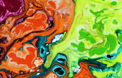 абстрактная предпосылка по мере того как предпосылка может мраморизовать используемую текстуру Акриловые цвета стоковая фотография
