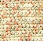 Абстрактная предпосылка - половик ветоши вязания крючком Стоковые Фото