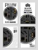 Абстрактная предпосылка плана пятницы черноты вектора Для творческого дизайна искусства, список, страница, стиль темы модель-маке Стоковое Изображение RF