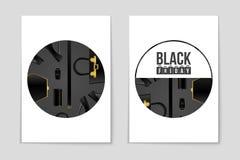Абстрактная предпосылка плана пятницы черноты вектора Для творческого дизайна искусства, список, страница, стиль темы модель-маке Стоковые Изображения RF