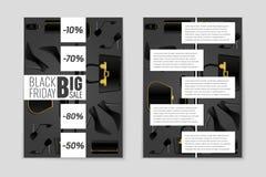 Абстрактная предпосылка плана пятницы черноты вектора Для творческого дизайна искусства, список, страница, стиль темы модель-маке Стоковые Фото