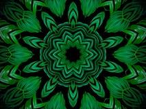 Абстрактная предпосылка растительности, ладонь выходит с effe калейдоскопа Стоковые Изображения RF