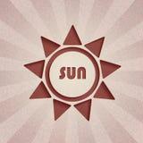 Абстрактная предпосылка. Ретро солнце Стоковое Фото