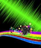 Абстрактная предпосылка рогульки диско музыки Стоковая Фотография RF