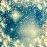 абстрактная предпосылка рождества с светами праздника Стоковые Фотографии RF