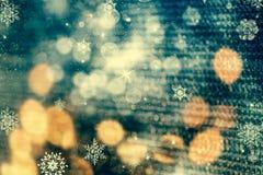 абстрактная предпосылка рождества с светами праздника Стоковое Изображение