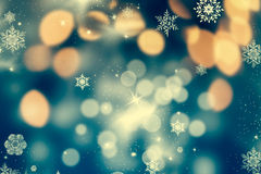 абстрактная предпосылка рождества с светами праздника Стоковая Фотография RF