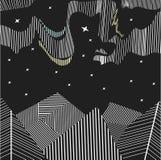Абстрактная предпосылка, северный свет, приполюсный, геометрический Стоковые Изображения RF