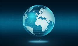Абстрактная предпосылка соединения технологии цепи мира Стоковая Фотография RF