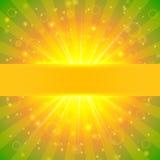 Абстрактная предпосылка солнечности лета Стоковое Изображение RF