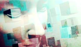 Абстрактная предпосылка стороны Стоковое Изображение RF
