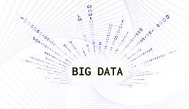 Абстрактная предпосылка с данными по слов большими и вертикальным бинарным кодом также вектор иллюстрации притяжки corel Стоковое Фото