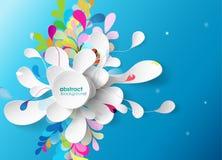 Абстрактная предпосылка с бумажным цветком. Стоковые Изображения RF