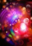 Абстрактная предпосылка с волшебным светом, размечает звёздную абстракцию Стоковые Фотографии RF
