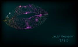 Абстрактная предпосылка с губами иллюстрация вектора