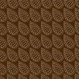 Абстрактная предпосылка сделанная от листьев на коричневом цвете Стоковое Фото