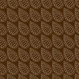 Абстрактная предпосылка сделанная от листьев на коричневом цвете Стоковые Фото