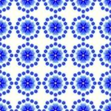 Абстрактная предпосылка с звездами и цветками Стоковые Фотографии RF
