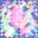 Абстрактная предпосылка с зеленым пинком полигонов растр Стоковое Изображение RF