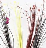 Абстрактная предпосылка с искусственным buterfly и листьями Стоковые Изображения RF